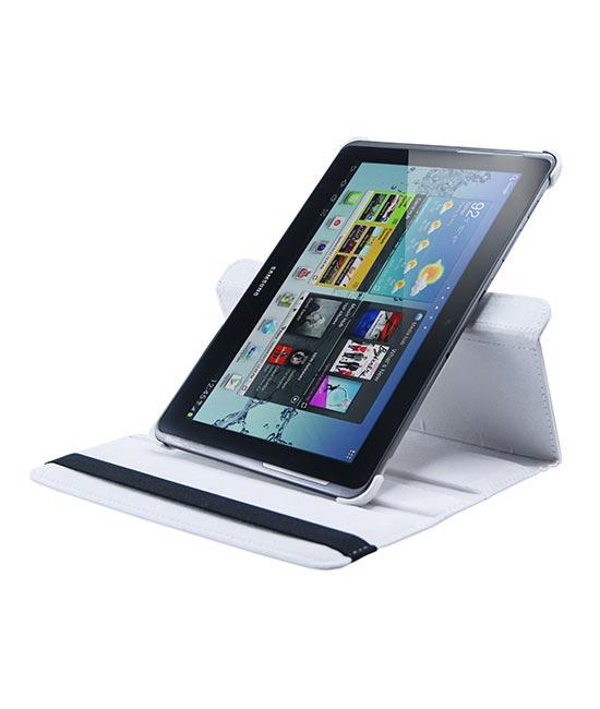 Roterende beschermcase voor Samsung Galaxy Tab 1 en 2 wit