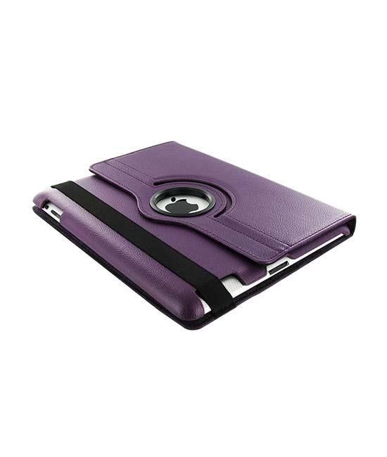 Roterende beschermcase voor iPad Air paars