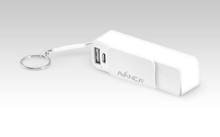 Avanca Powerbar 2000 aan Sleutelhanger Wit