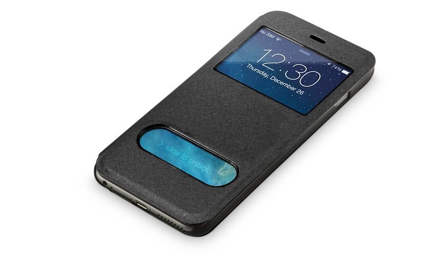 Beschermhoes met vensters iPhone 6-6s plus zwart