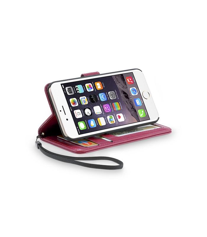 Wallet case iPhone 6-6s roze