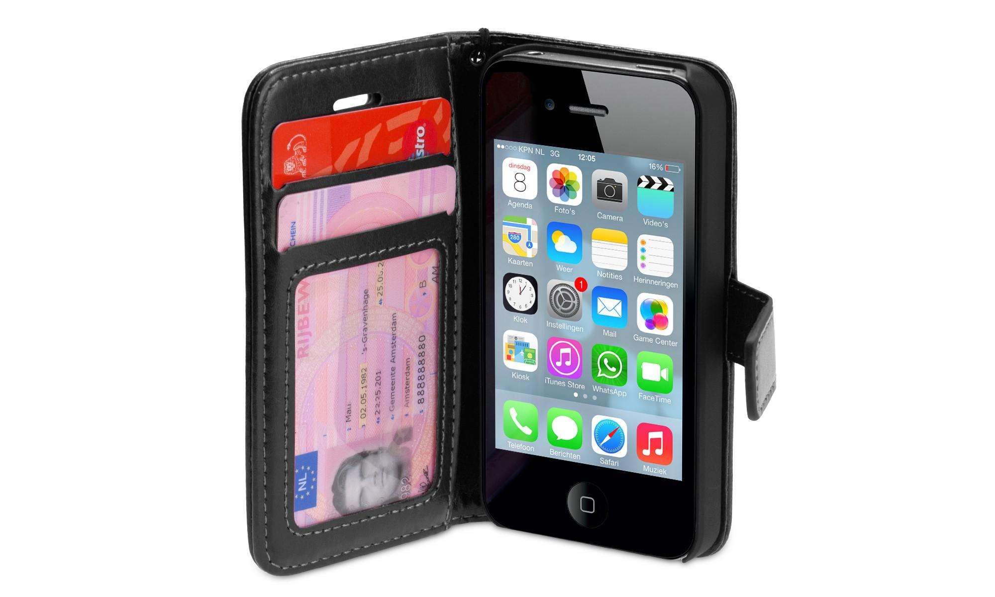 Wallet ID Case iPhone 4-4S zwart