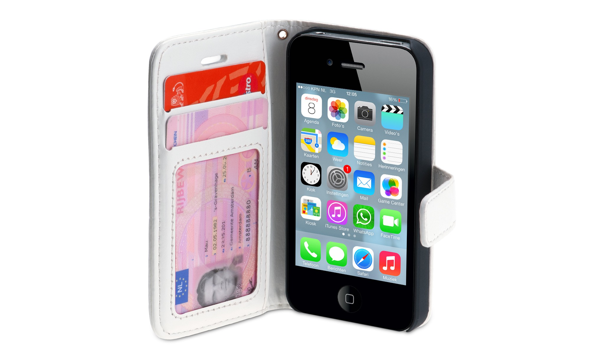 Wallet ID Case iPhone 4-4S wit