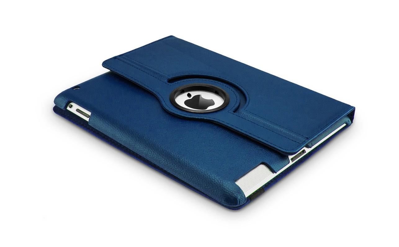 Roterende beschermcase voor iPad Air donkerblauw