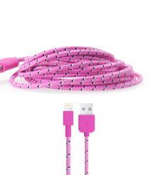 Gebreide kabel voor Lightning apparaten roze