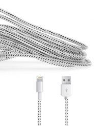 Gebreide kabel voor Lightning apparaten wit