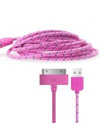 Gebreide kabel voor 30-pin apparaten roze
