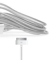 Gebreide kabel voor 30-pin apparaten wit