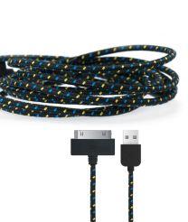 Gebreide kabel voor 30-pin apparaten zwart
