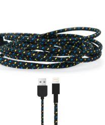 Gebreide kabel voor Lightning apparaten zwart