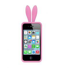 Bunny ears case voor iPhone 4/4S roze