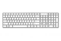 N-line draadloos toetsenbord voor Windows – Zilver/Wit