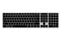 N-line draadloos toetsenbord voor Mac – Zilver/Zwart
