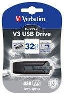 Verbatim Store'n'Go V3 USB Drive Black/Grey 32GB