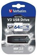 Verbatim Store'n'Go V3 USB Drive Black/Grey 64GB