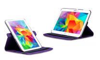 Roterende beschermcase voor Samsung Galaxy Tab 4 paars
