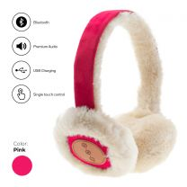 Avanca Bluetooth Audio Earmuffs Fuchsia