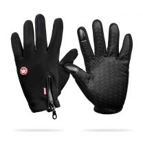 Wind and Waterproof Gloves - Black, Size M