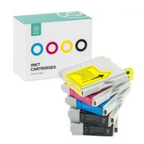 Ink cartridge set for Brother LC970/LC1000 black (2x) + blue + red + yellow