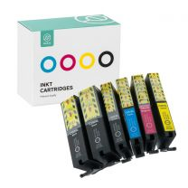 Ink cartridge set for Canon PGI-550XL (2x) + CLI-551XL black + blue + red + yellow