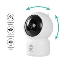 Sinji Smart Pan-Tilt Camera - White