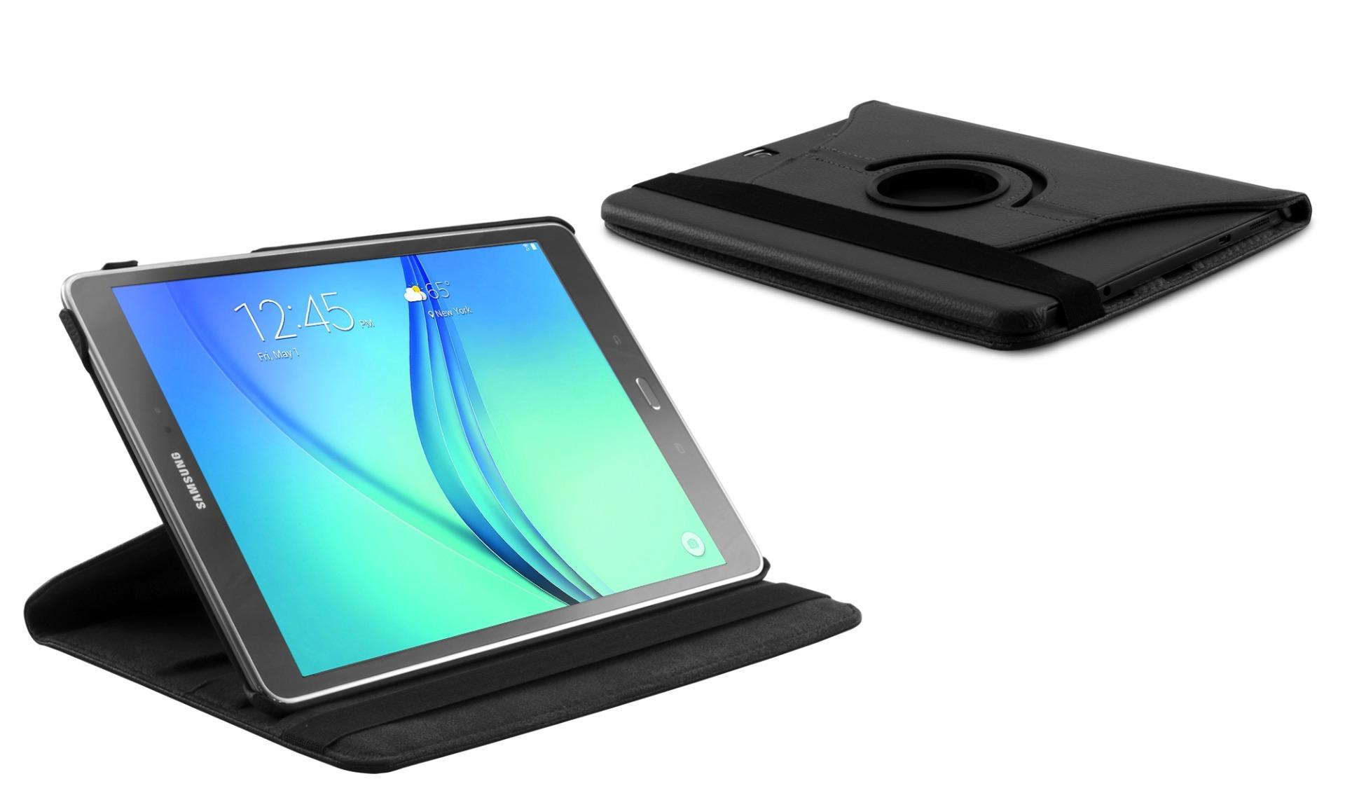 Roterende beschermcase voor Samsung Galaxy Tab A 10.1 zwart