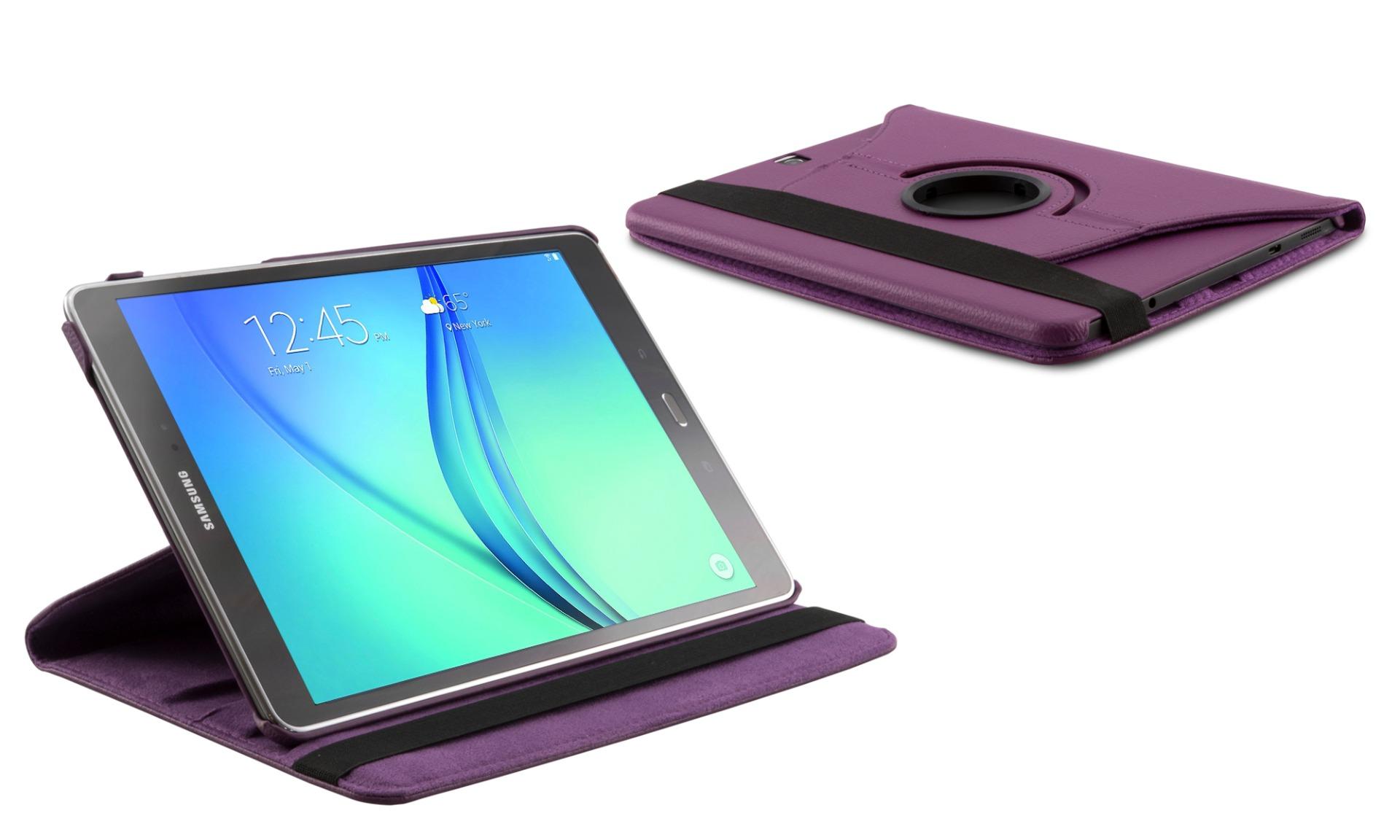 Roterende beschermcase voor Samsung Galaxy Tab A 10.1 paars