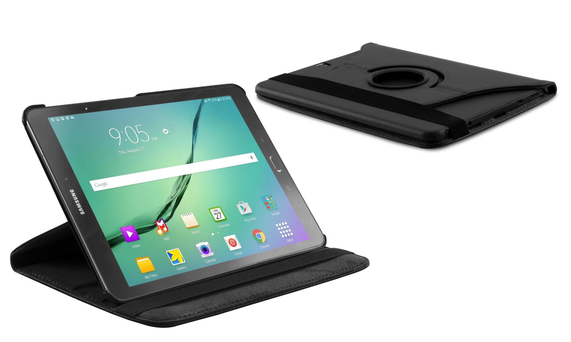 Roterende beschermcase voor Samsung Galaxy Tab S2 9.7 zwart