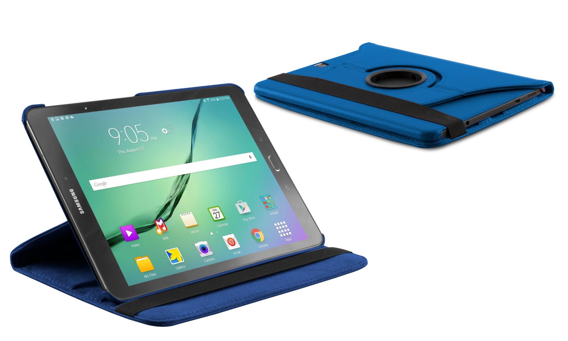 Roterende beschermcase voor Samsung Galaxy Tab S2 9.7 blauw