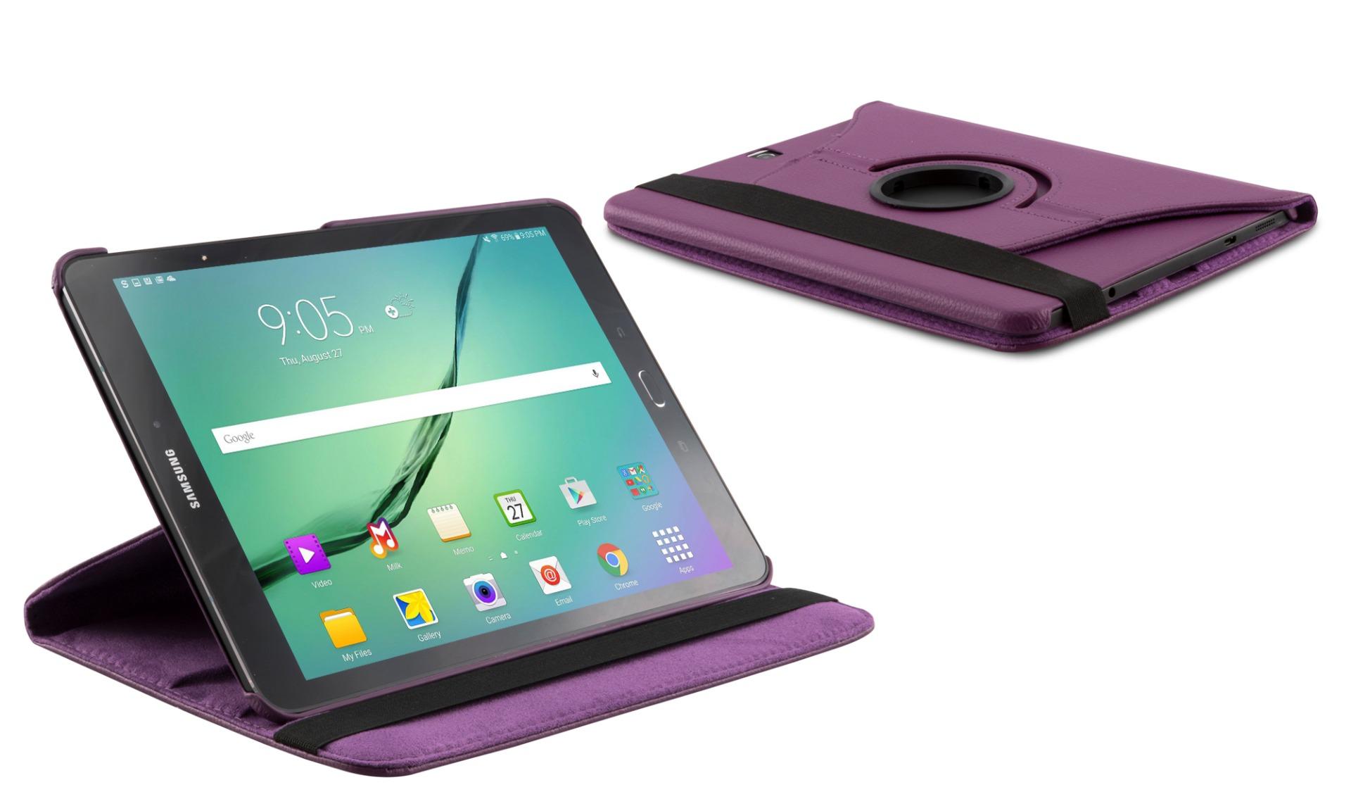 Roterende beschermcase voor Samsung Galaxy Tab S2 9.7 paars